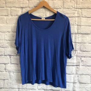 Aritzia Wilfred Free Blue T-Shirt